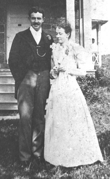 Mr. & Mrs. Edward Clifford Jones on their Wedding Day