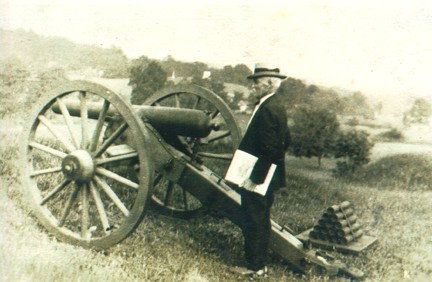 Jacob C. Eckess with cannon