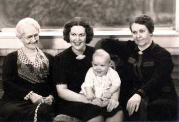 Four Generations L to R Laura McCarter Null, Laura Jane Jones, Edward C. Jones III and Pauline Null Henderson