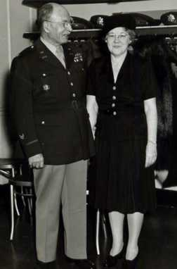 Col. George L. Watson and Vera Null Watson at Edgewood Arsenal during World War II. Aunt Vera was the sister of my Grandmother Henderson